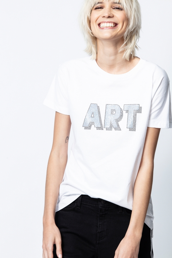TOM ART 3D STRASS SHORT-SLEEVE