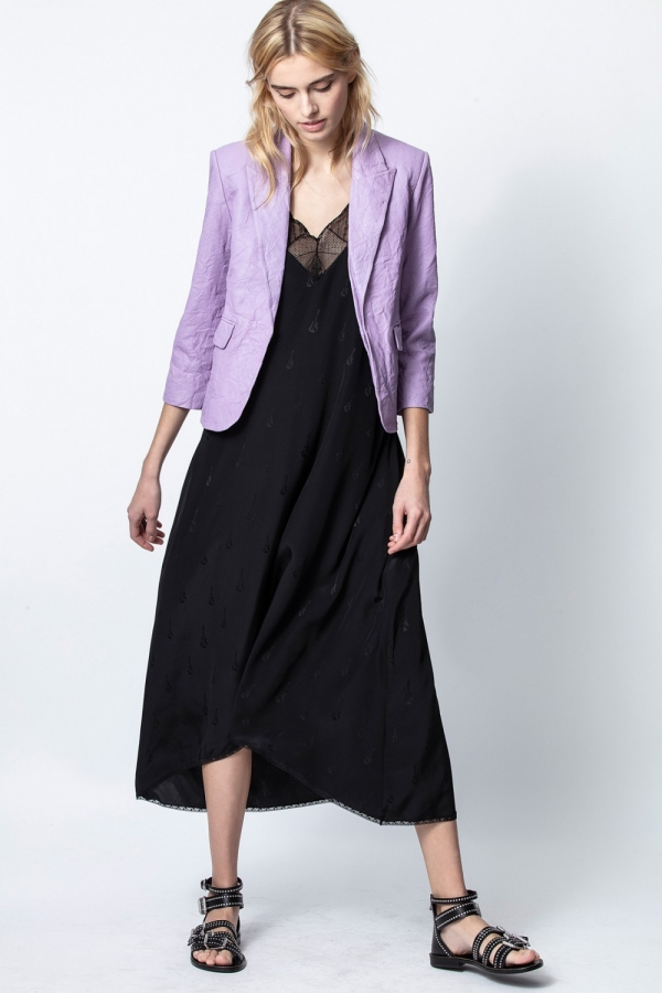 VALDY CUIR FROISSE JACKET