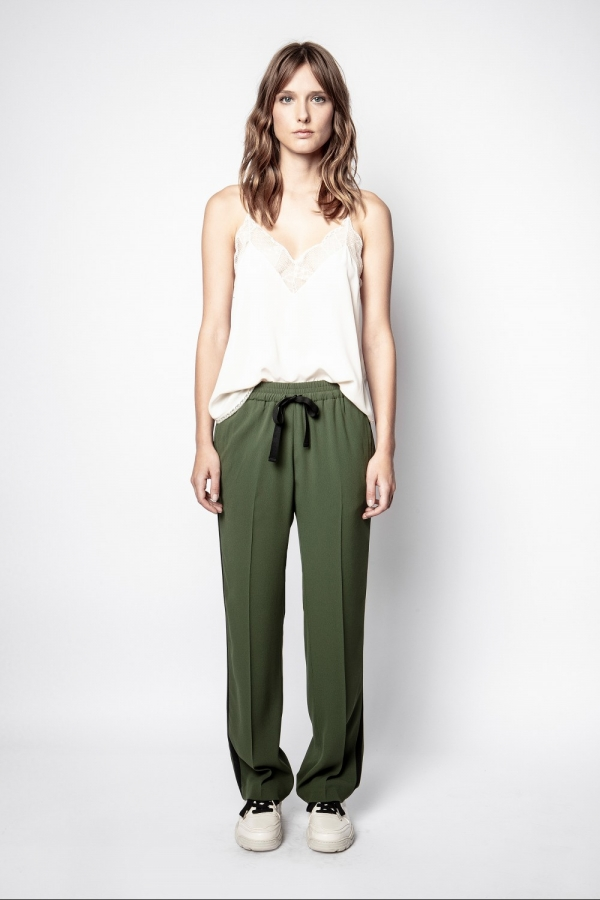 POEME CREPE PANTS