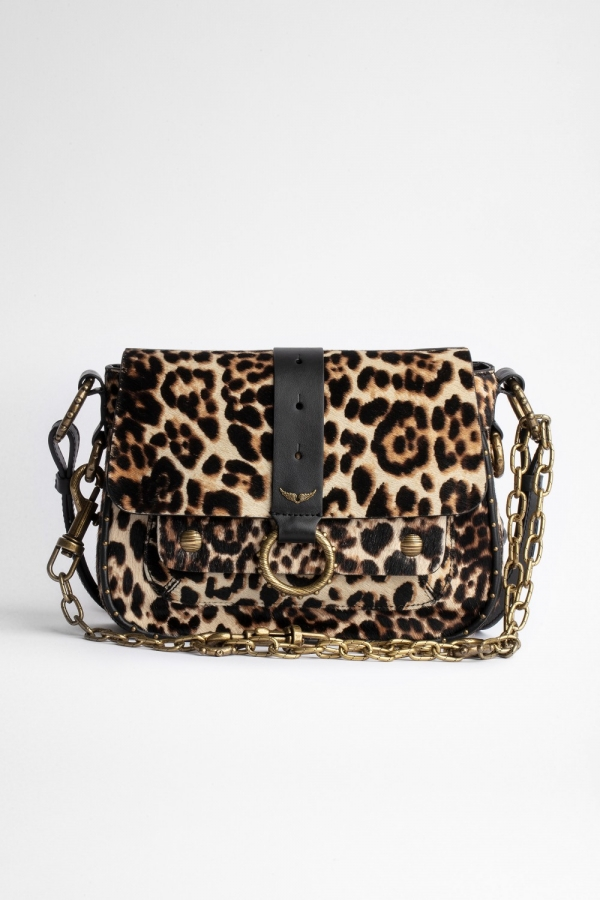 KATE MIX LEO PRINT COWSKIN WITH PONEY EFFECT BAG