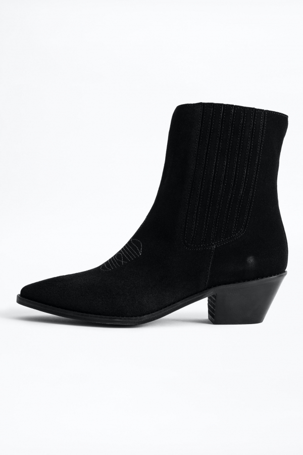 TYLER ELASTIC SUEDE SHOES