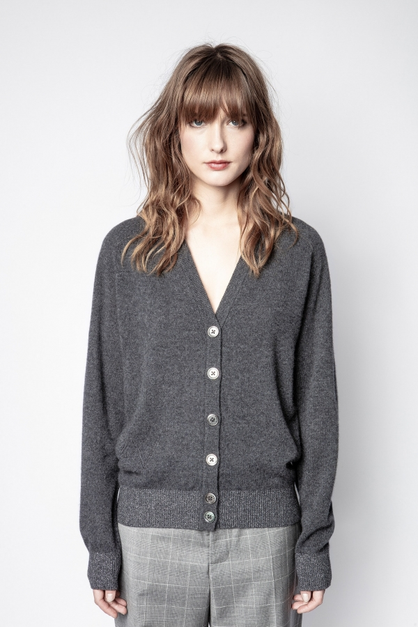 JIM C PATCH LUREX CARDIGAN