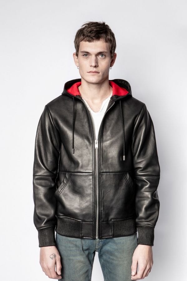 BASTIEN WOOL BONDED LEATHER JACKET