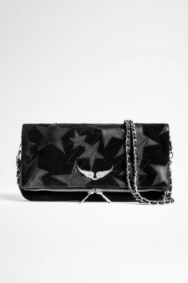 [40%↓]ROCK SUEDE STARS CLUTCH BAG